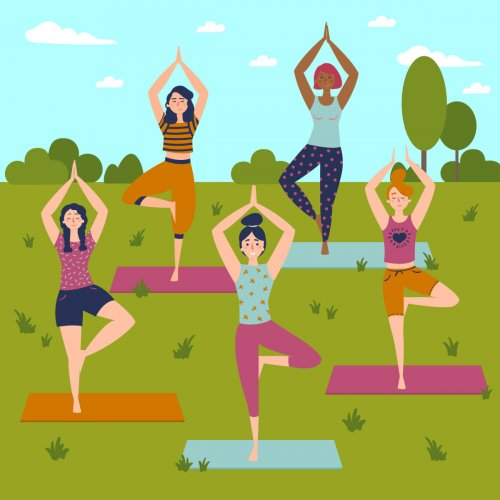 Yogasanas tone and massage the internal glands of the body, which secrete 'happy' hormones such as endorphins.