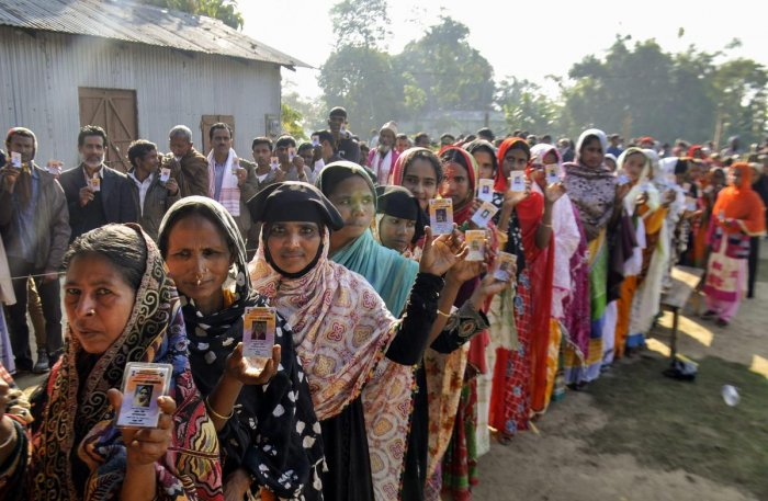 The Election Commission on Tuesday failed to update trends of the Assembly polls in five states on its website for over two hours