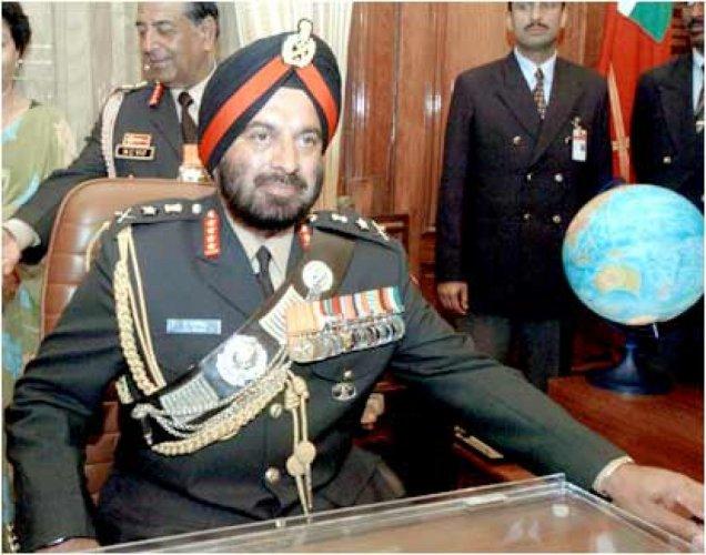 Ex-Army Chief J J Singh