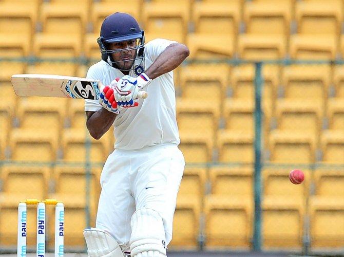 WELCOME NEWS The return of Mayank Agarwal will strengthen Karnataka's batting. FILE PIC