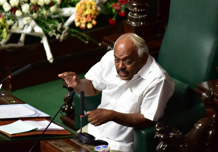 Legislative Assembly Speaker K R Ramesh Kumar on Wednesday told the state government to take a stand on regularising unauthorised layouts in urban areas after several legislators raised the issue. DH file photo