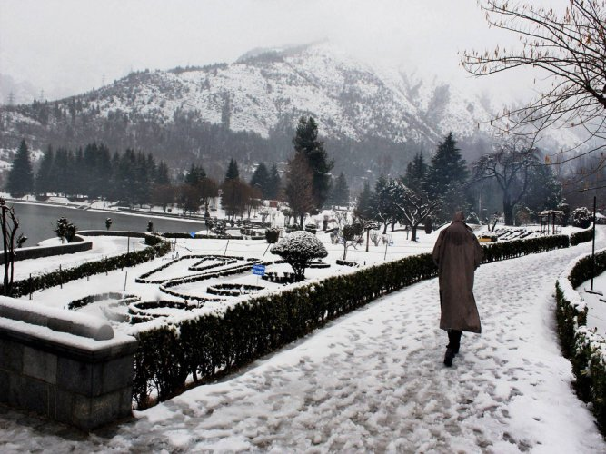 There are reports of snowfall in other areas in the higher reaches of the valley and Jammu region as well including near the Jawahar Tunnel on Srinagar-Jammu national highway. PTI file photo