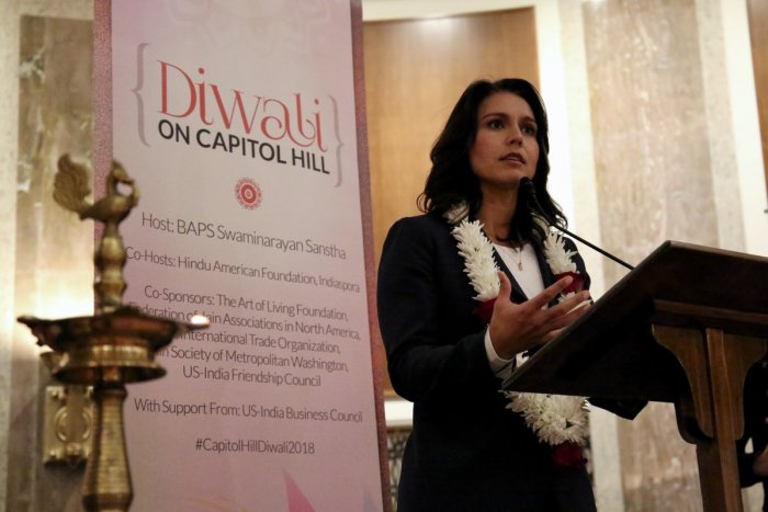 """""""I'm seriously considering it,"""" Gabbard told MSNBC News on Wednesday in response to a question on her presidential aspirations. (Photo source: Twitter/TulsiPress)"""