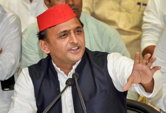 Samajwadi Party chief Akhilesh Yadav. PTI file photo