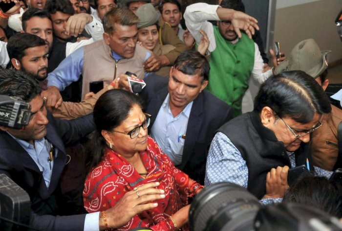 Raje's victory over Congress'Manvendra Singh by34,980 votes is her fourth consecutivewin in the seat