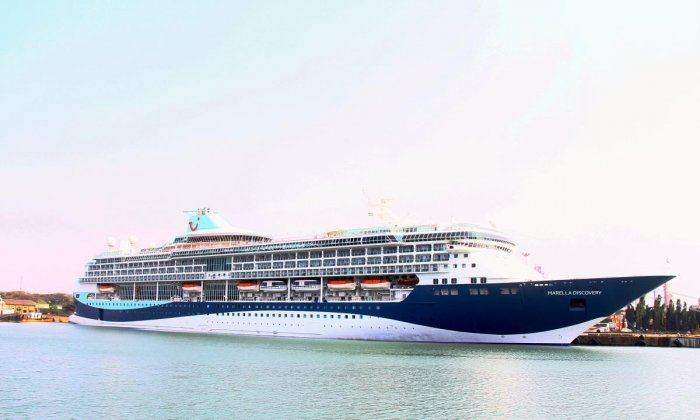 Cruise vessel 'Marella Discovery' called at New Mangalore Port on Wednesday.