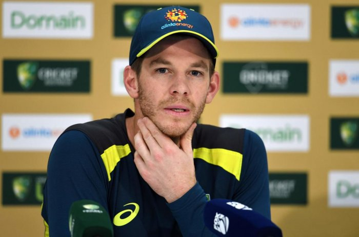 POSITIVE: Australia's captain Tim Paine backed his struggling players Aaron Finch and Mitchell Starc ahead of the second Test against India. AFP