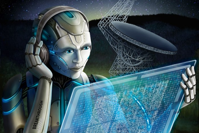 Breakthrough Listen researchers used artificial intelligence to search through radio signals recorded from a fast radio burst, capturing many more than humans could.(Breakthrough Listen image)