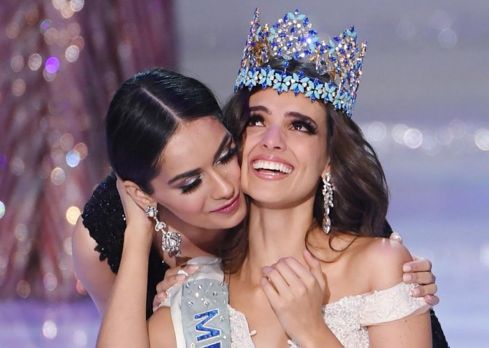 Vanessa Ponce de Leon was crowned as the 68th Miss World by last year's winner, Manushi Chhillar of India, in the coastal city of Sanya. (AFP Photo)