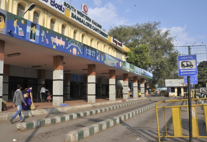 The subway would not have been needed had Bangalore Metro Rail Corporation Ltd (BMRCL) stuck to the original alignment with the Cantonment Metro station right opposite of the railway station. (DH file photo)