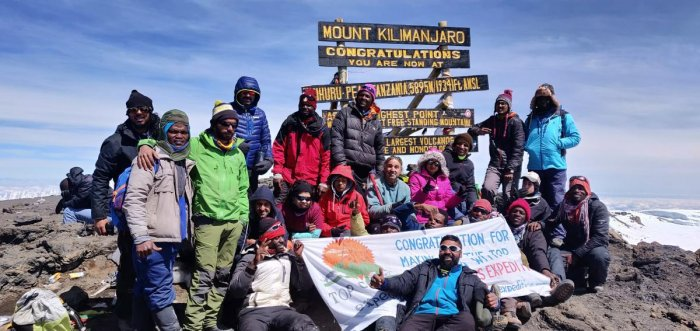 A team of climbers from India and Israel that includes visually challenged persons has scaled the summit of Mt Kilimanjaro. DH PHOTO