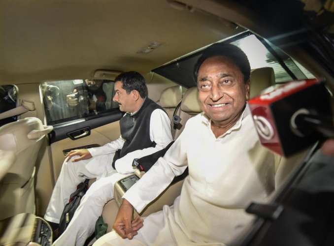 The Congress on Thursday night had named Nath as Madhya Pradesh's next chief minister after hours of hectic parleys held by the party chief Rahul Gandhi with senior party leaders. PTI Photo