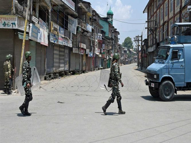 Restrictions have been imposed in five police station areas of Srinagar, a police official said. PTI file photo