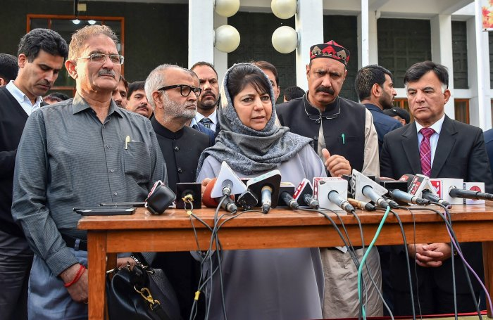 Ruling PDP's alliance partner BJP has rejected Chief Minister Mehbooba Mufti's demand for unilateral ceasefire in Kashmir. PTI file photo