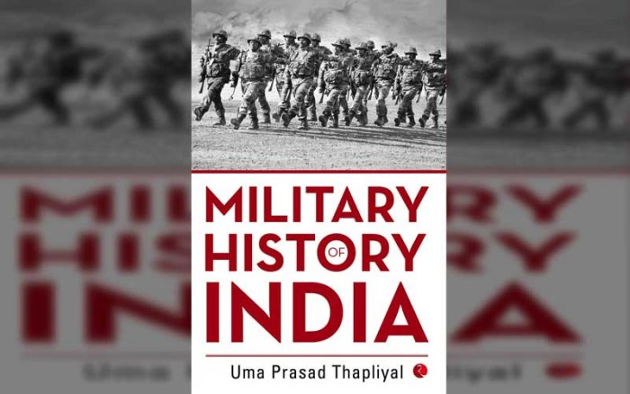 The cover of Military History of India written by Uma Prasad Thapliyal. (Courtesy: Amazon.in)
