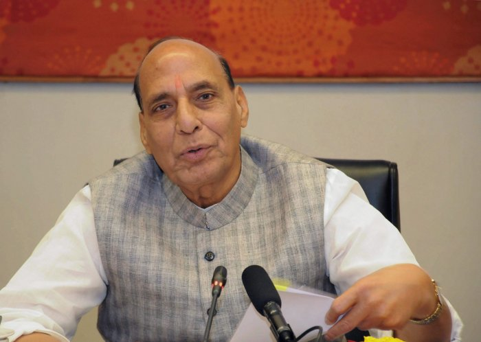 During his visit, Home Minister Rajnath Singh will review the suspension of the operations with the top police, paramilitary and central security agency officials. PTI file photo