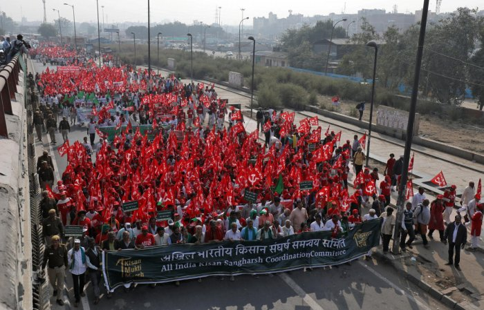 Farmer leaders, who are in the national capital for the Kissan march to draw the government's attention to the agrarian distress, told reporters that the JD(S)-Congress government made false promises to farmers on loan waiver. (PTI File Photo)