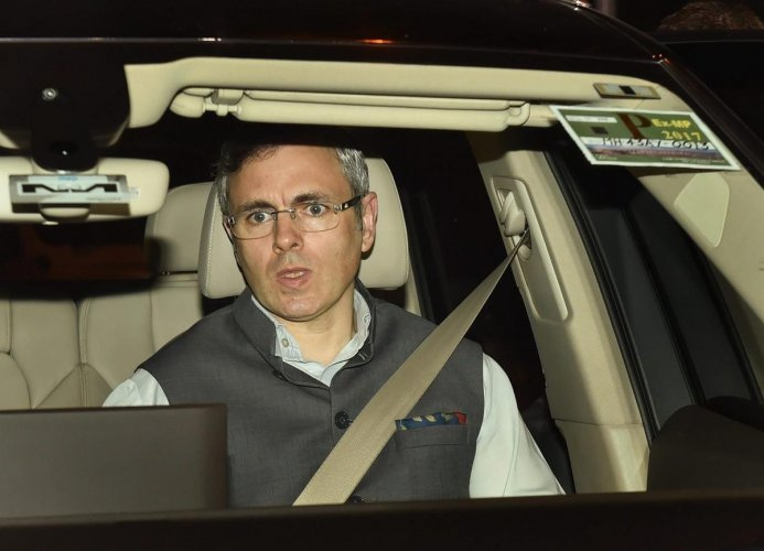 Former J&K Chief Minister and National Conference working president, Omar Abdullah. PTI Photo