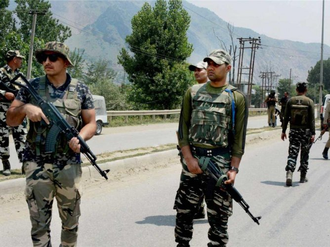 The police said the militants were killed in an encounter with security forces in the Chattabal area of old city Srinagar. PTI file photo