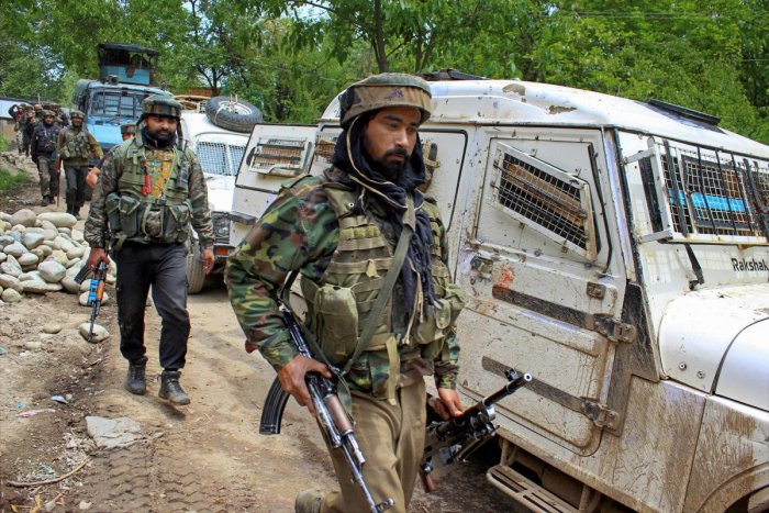 A policeman was killed on Sunday after militants attacked a police station in south Kashmir's Shopian district, considered the hotbed of militancy in the state. PTI file photo