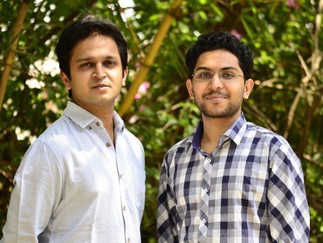 Logistics optimisation platform Locus founders Nishith Rastogi (L) and Geet Garg.