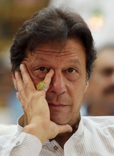 India said the true face of Pakistan Prime Minister Imran Khan has been exposed. AFP