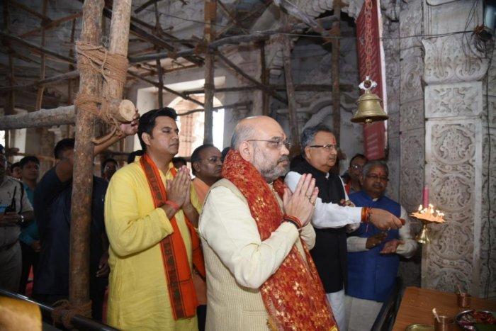 Amit Shah in Chhattisgarh on Wednesday.