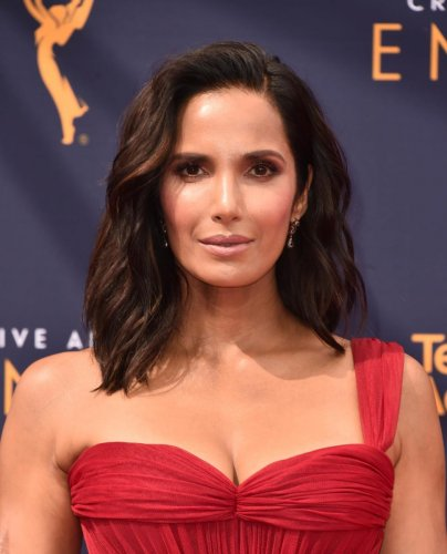 Padma Lakshmi attends the 2018 Creative Arts Emmys Day 2 at Microsoft Theatre on in Los Angeles on September 9, 2018. AFP