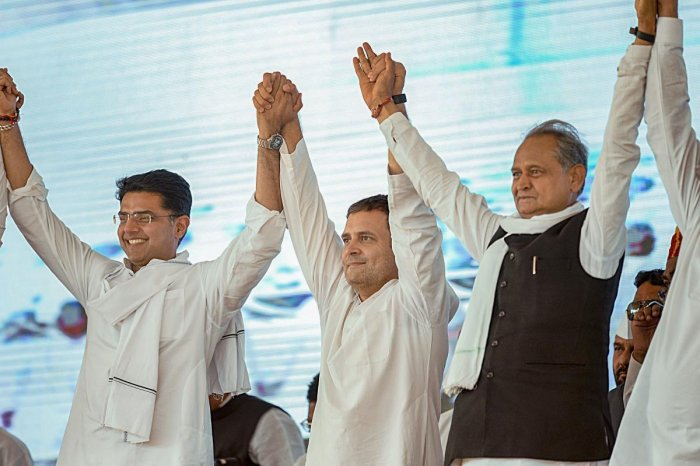 Even as the Congress party is yet to declare its first list of candidates for Rajasthan, former chief minister Ashok Gehlot on Wednesday said that both he and Rajasthan Congress chief Sachin Pilot will contest the assembly elections. PTI file photo