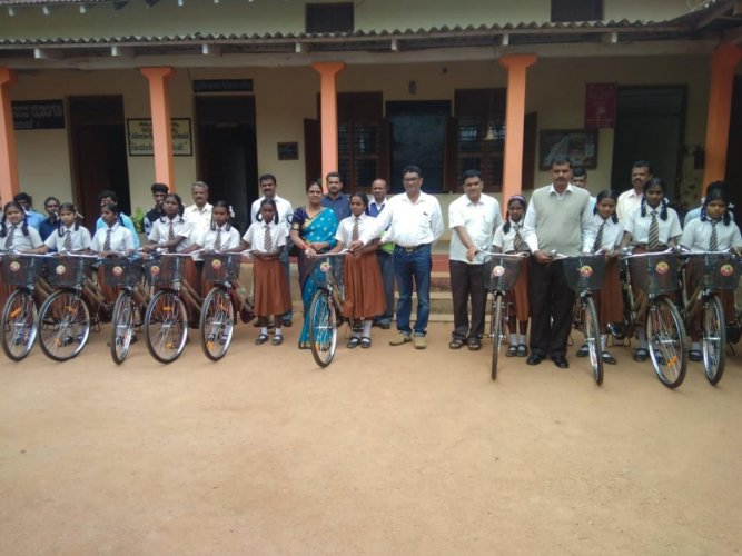 In the current academic year, 5.14 lakh students were to receive free bicycles at an estimated cost of Rs 185 crore.