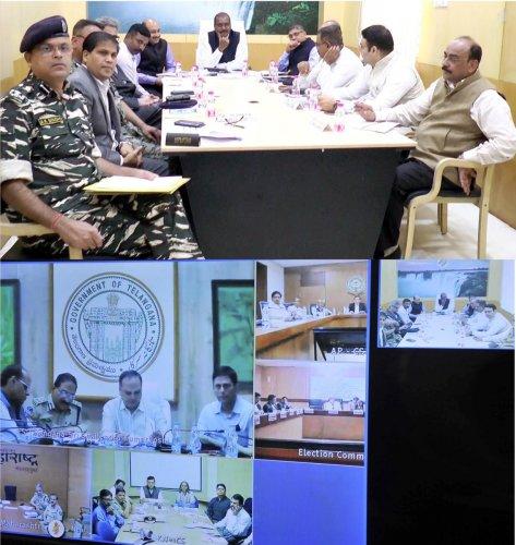 CEC O P Rawat holds review meeting ahead of Telangana polls.