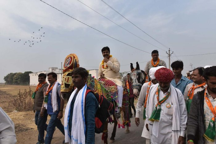 Yoonus Khan's the only Muslim candidate of BJP accepts that party has changed its strategy in Rajasthan when it comes to field a Muslim candidate. Photo courtesySUMAN SARKAR