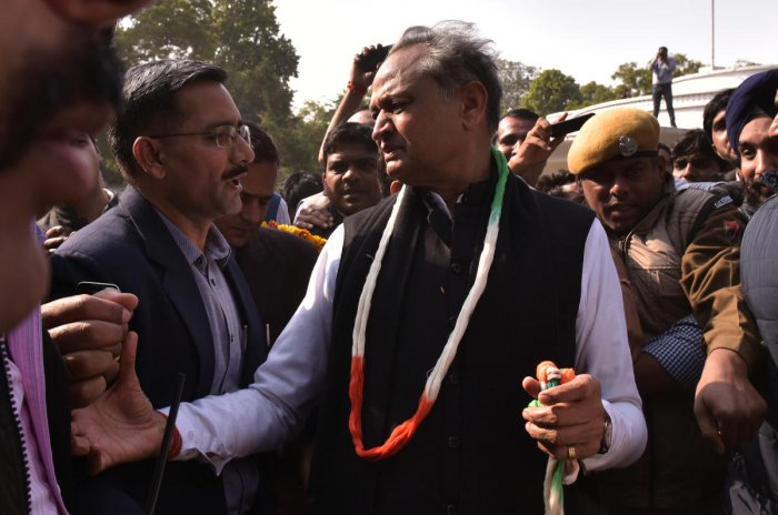 """Exactly one year ago, when 67-year-old Gehlot was elevated as the party's general secretary and made in-charge of """"Organisation and Training,"""" many in Rajasthan got an impression that he may not return to the state. (Photo by Suman Sarkar)"""