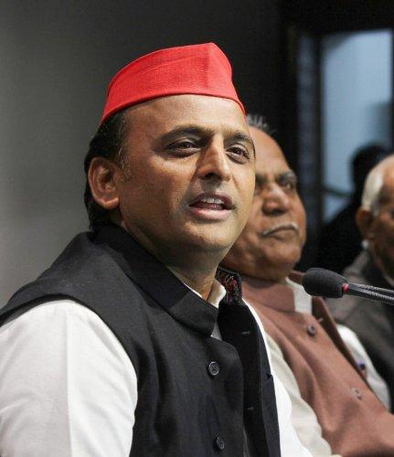 Samajwadi Party president Akhilesh Yadav. PTI