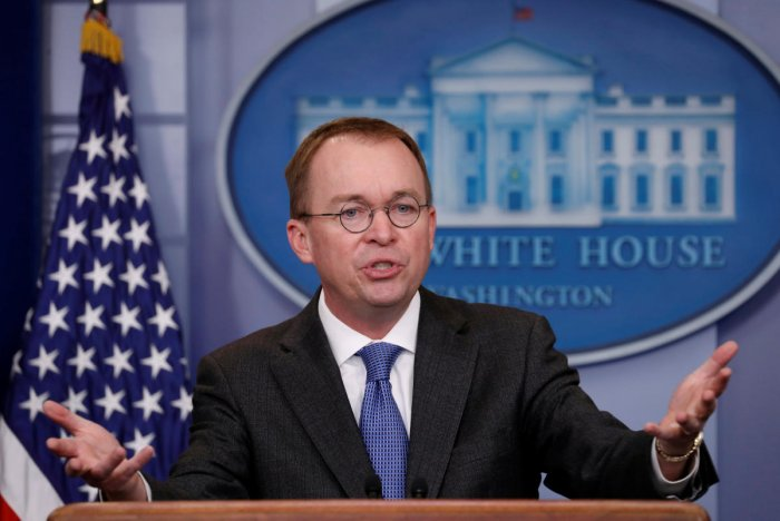 White House budget director Mick Mulvaney. (REUTERS File Photo)
