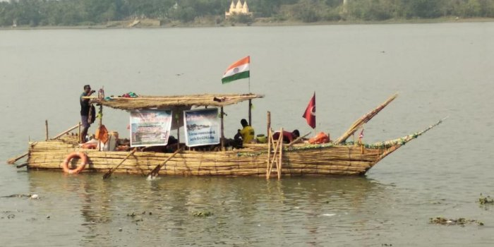 The jute boat on the Ganges