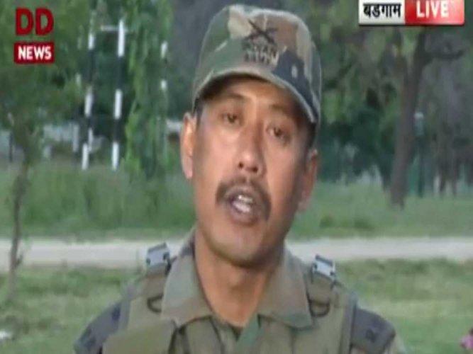 In picture: Major Leetul Gogoi. File photo/Screengrab.