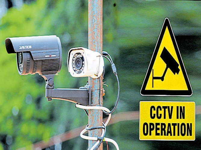 CCTV cameras in the city.