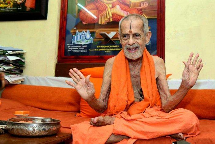 Pejawar Mutt seer Sri Vishwesha Theertha Swami