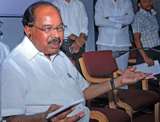 In picture: Senior Congress leader and Chikkaballapur MP M Veerappa Moily. DH photo.