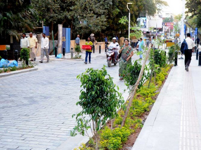 Just two months after Chief Minister Siddaramaiah unveiled the 750-metre Church Street, sewage began flooding the brand-new cobblestone top due to blocked drainage chambers. DH file photo