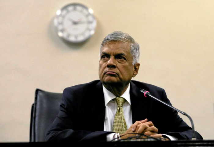 Wickremesinghe had refused to step aside since being sacked by in late October and replaced by former leader Mahinda Rajapakse. Reuters File photo