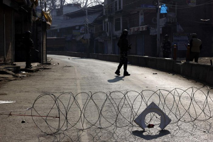The separatists have called for a three-day shutdown from Sunday against the killings and had also urged people to march towards 15-Corps headquarters in Badami Bagh, Srinagar. (Photo by Umer Asif)