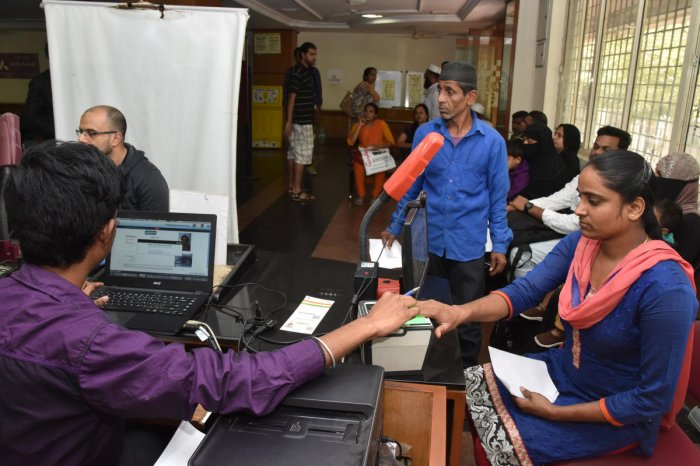 The Aadhaar Seva Kendras will provide people the facility to book prior appointment for these services, the officials familiar with the development said, adding that each metro will have four of these centres, and other cities two centres each. DH File Ph