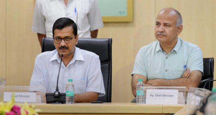 Delhi Chief Minister Arvind Kejriwal and Deputy CM Manish Sisodia. (PTI file photo)