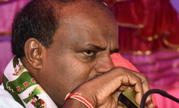 """Speaking to reporters a day after Kumaraswamy said that he would spend two days in the rain-ravaged district, Gowda said, """"I am not sure if the chief minister will be making a jolly trip to Kodagu by visiting resorts or if he will seriously address the problems of the district. It's not right on his part to play favourites or restrict himself to certain regions or communities."""" DH photo."""