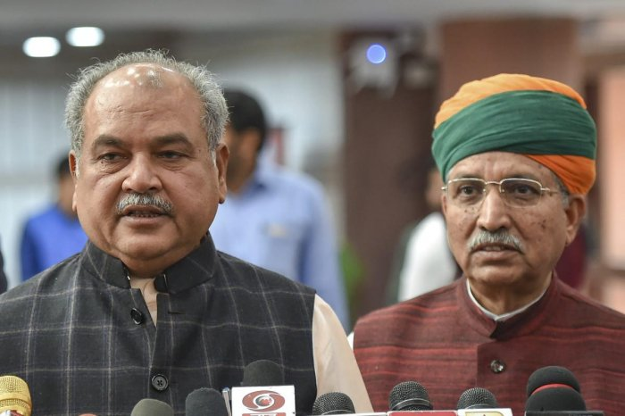 Criticising Nath, Union minister Narendra Singh Tomar said he appeared to be unaware of existing rules that prioritise jobs for the native population. PTI File Photo