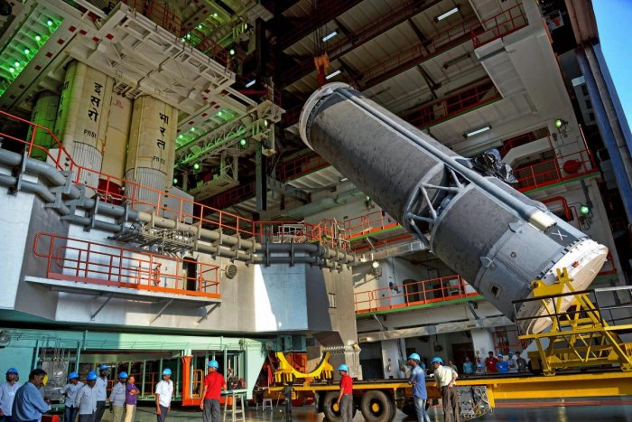 Indian Space Research Organisation's latest communication satellite GSAT-7A set to be launched on-board GSLV-F11 on Dec. 19, from the spaceport of Sriharikota. ISRO Photo
