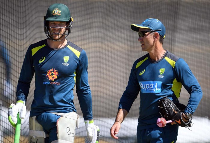 RELIEVED: Australian coach Justin Langer said he loved India's aggression in the second Test. AFP File Photo