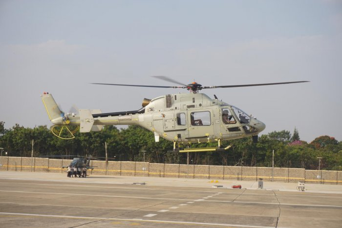 The third prototype of the Light Utility Helicopter had its maiden flight at the Hindustan Aeronautics Limited facility here on Friday.